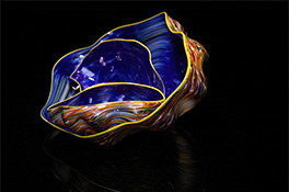 Blue Orange Yellow Barnacle Art Glass Nesting Sets by Robert Kaindl