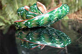 Green Barnacle Art Glass Nesting Sets by Robert Kaindl