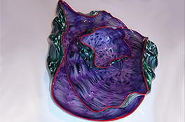 Purple Green Red Barnacle Art Glass Nesting Sets by Robert Kaindl