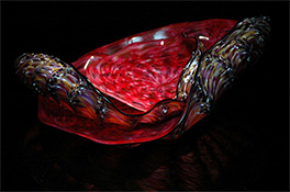 Red Barnacle Art Glass Nesting Sets by Robert Kaindl