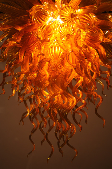 Gold amber orange chandelier art glass chandeliers gallery mozeypictures Images