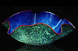 Giant Ostrea Bowl Luxury Art Glass by Artist Robert Kaindl